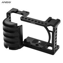 Andeor Video Kamera Käfig Rig Kalten Schuh Halterung Universal 1/4 3/8 Gewinde Löcher für Sony A6000 A6100 A6300 A6400 A6500 a6600 DSLR
