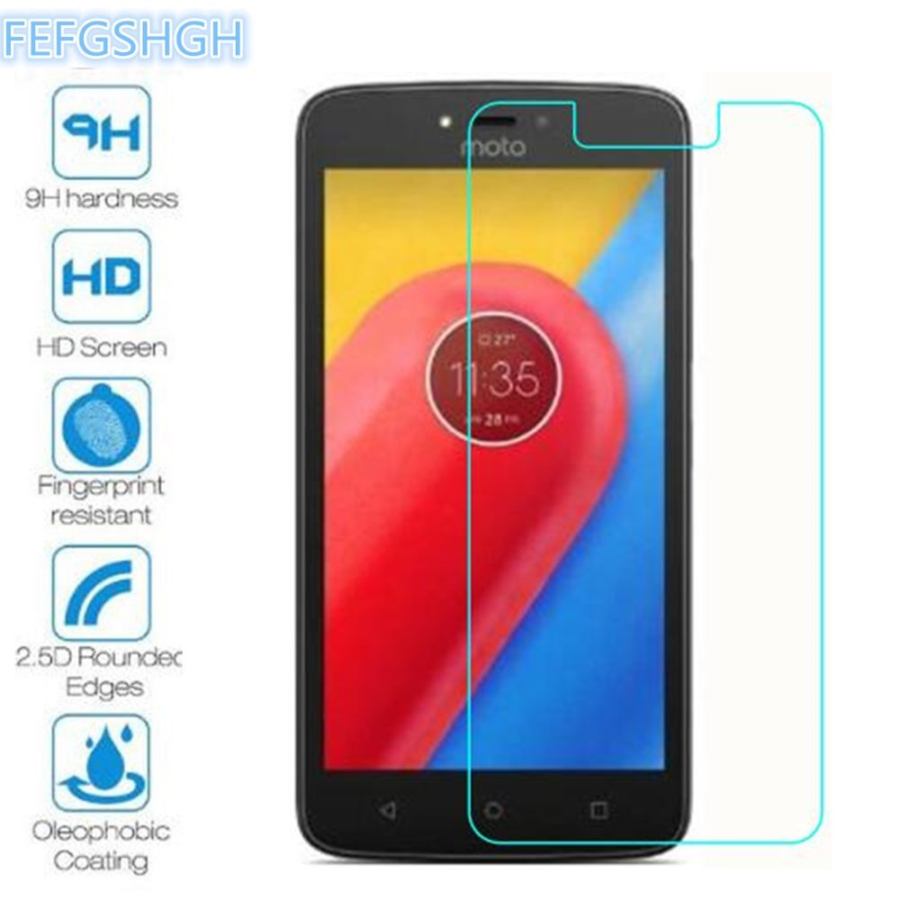 2PCS Tempered Glass For Motorola Moto C XT1754 XT1750 XT1723 Explosion Proof Screen Protector Moto C Plus Protective Film Glass