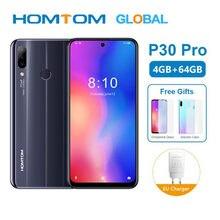 Versão global homtom p30 pro mt6763 octa núcleo 4 gb 64 gb smartphone 6.41 Polegada android 9.0 traseira 13mp triplo câmeras do telefone móvel