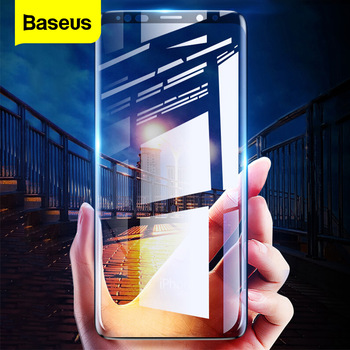 Baseus Screen Protector Tempered Glass For Samsung Galaxy Note 9 8 S9 S8 Plus Note9 Note8 3D Full Cover Protective Glass Film screen protection tempered glass film for samsung galaxy note 8 9 s9 s8 plus s7 pet explosion proof film full screen soft film