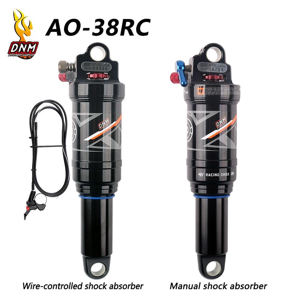DNM/AO-38RC горный велосипед задний амортизатор 165/190/200/210 мм MTB горный велосипед катушки Задний амортизатор провода ontrol/ручной Управление