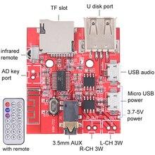 Bluetooth Audio Receiver Board USB Sound Card 3Wx2 Amplifier Support U Disk