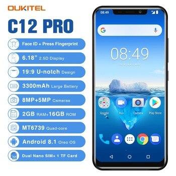 Перейти на Алиэкспресс и купить Oukitel C12 Pro смартфон 4G 6,18 дюйм19:9 Android 8,1 Face ID 2 Гб RAM 16 Гб ROM 3300 мАч MT6739 четырехъядерный отпечаток пальца мобильный телефон