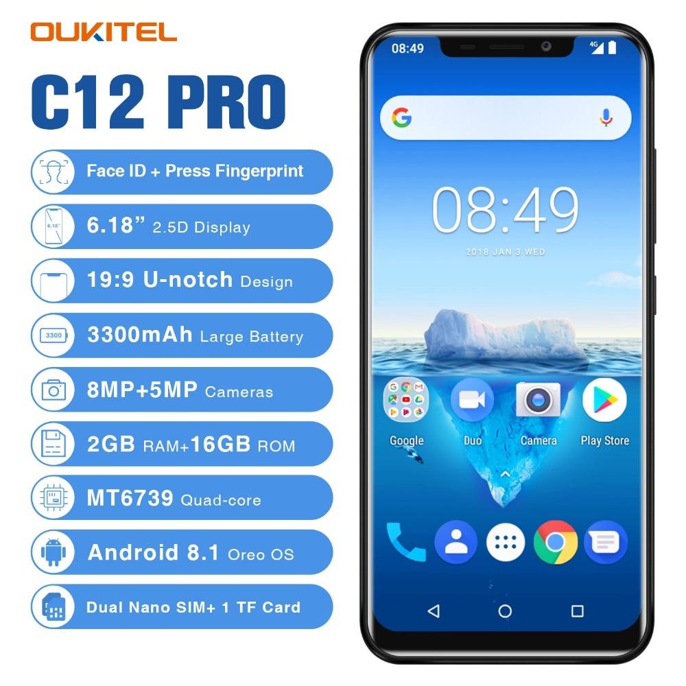 Oukitel C12 Pro Smartphone 4G 6.18