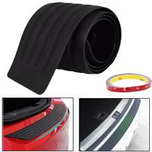 Universal Car Trunk Door Guard Strips Sill Plate Protector Rear Bumper Guard Rubber Mouldings Pad Trim Cover Strip Car Styling(China)