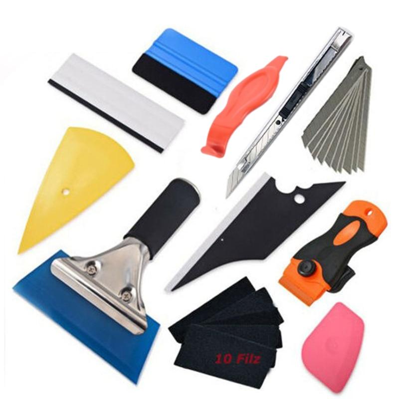 11 шт./компл. инструмент для обертывания пленки, инструмент для обертывания наклеек, скребок для автомобильной фольги для окон, скребок, реза...