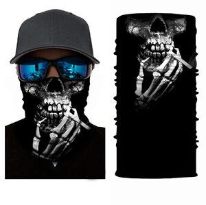 Высокая эластичность 3D череп бесшовные бандана Велосипедный спорт шарф для мужчин женщин мужчин головной убор шеи Gaiter трубка велосипед Лыж...
