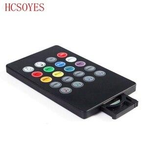 Image 3 - Музыкальный ИК контроллер с 20 клавишами, черный звуковой датчик, дистанционное управление для RGB светодиодной ленты 12В 24В для RGB 5050 3528 smd светодиодной ленты