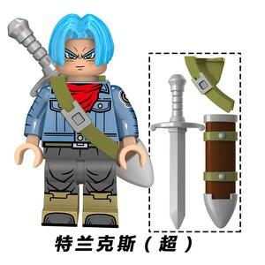 Image 2 - Neue Dragon Ball Z Torankusu Vegeta Anime Goku Tien Shinhan Bausteine Ziegel action figur Kinder Cartoon Spielzeug