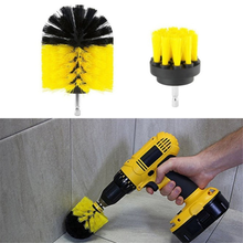 Electric drill cleaning brush three-piece household tools brush kitchen floor brush electric drill accessories Woodworking tools цена