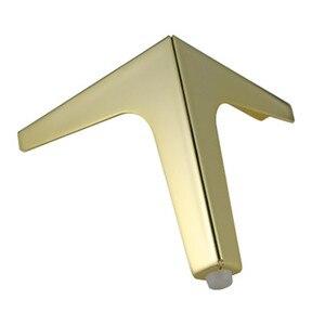Image 3 - 4pcs ฮาร์ดแวร์เฟอร์นิเจอร์โลหะขาตู้ไม้ตารางขาทองสำหรับโซฟาฟุตฟุต Riser เฟอร์นิเจอร์อุปกรณ์เสริม