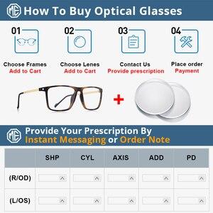 Image 5 - MERRYS تصميم الرجال الفاخرة TR90 إطار نظارات الرجال Vintage قصر النظر وصفة طبية النظارات S2817