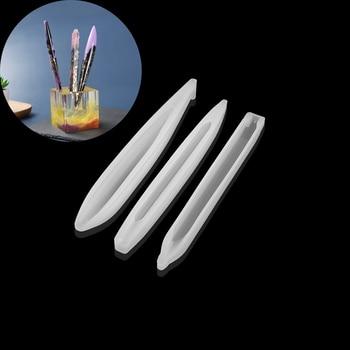 3 Styles Crystal Epoxy Handmade Creative Teacher Student Day Gift UV Resin Ballpoint Pen Silicone Molds For DIY Making Findings creative resin axe style ballpoint pen