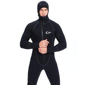 YONSUB Scuba Front Zipper 5MM Long or Short Sleeves Neoprene Men Diving Snorkeling Wetsuit Underwater Hunting Surfing Swimsuit(China)