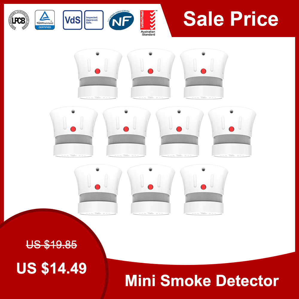 CPVan FSD001 Mini Smoke Detector CE EN14604 Smoke Alarm Independent Photoelectric Smoke Sensor For Home Security Rookmelder