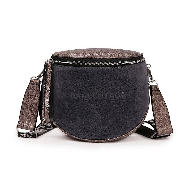 Crossbody Bags For Women 2018 Luxury Shoulder Bag Small Fashion Summer Saddle Bag Female Soft Scrub Leather Messenger Bag Ladies