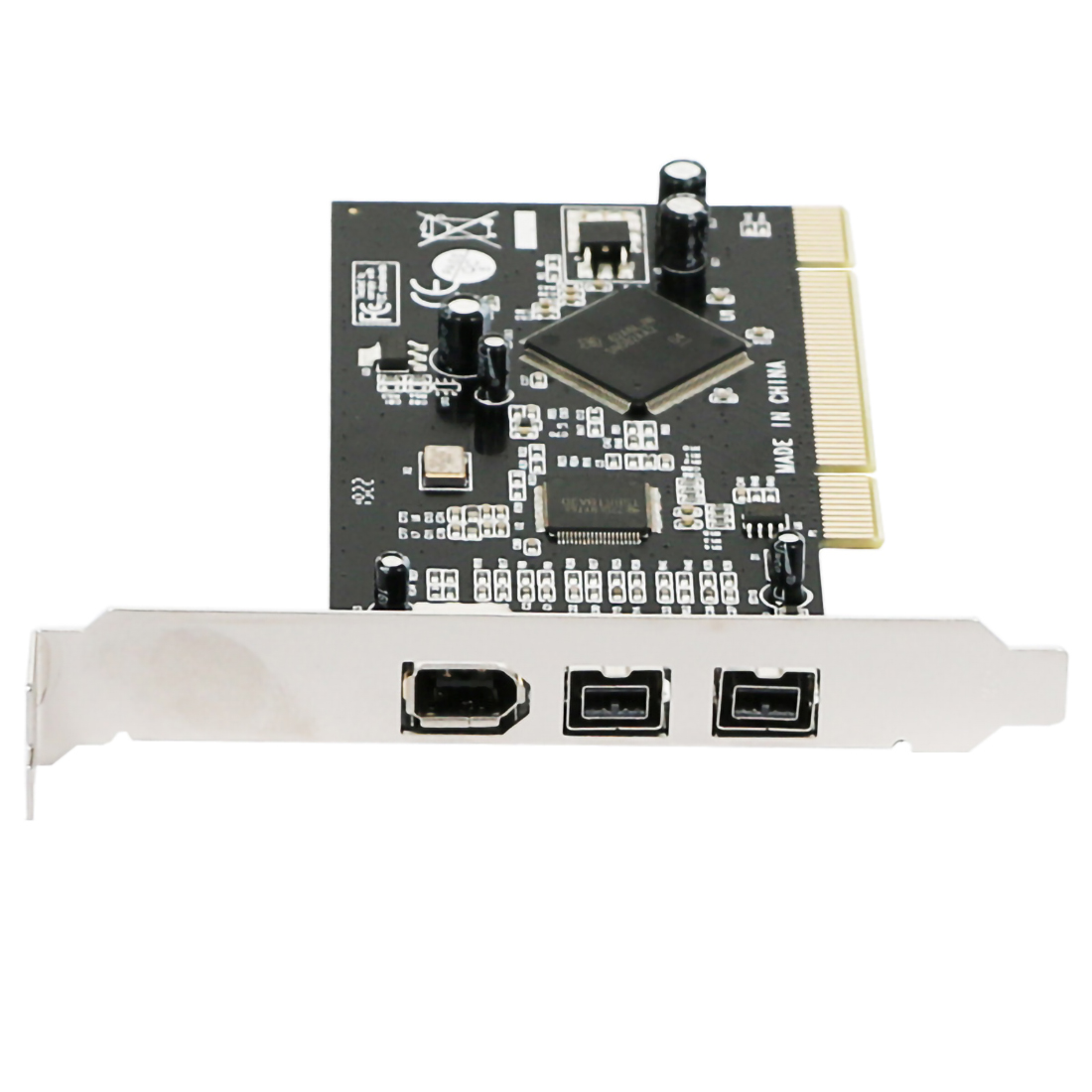Add on Cards Combo PCI 2x <font><b>IEEE</b></font> <font><b>1394B</b></font> 9Pin 9P & 1x 1394A 6Pin 1394 Extension Adapter PCI Controller Card for Firewire Desktop PC image
