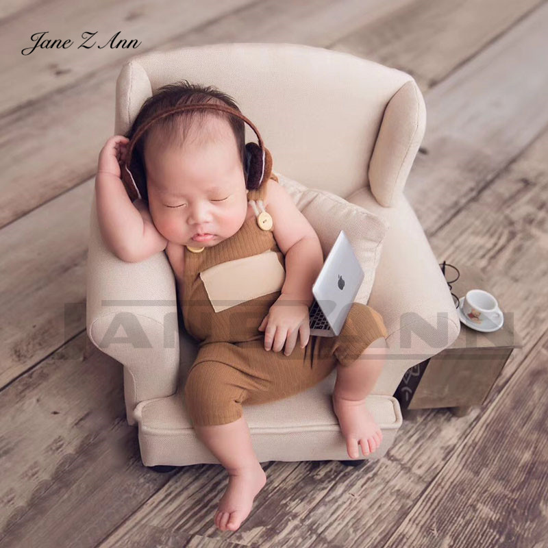 Jane Z Ann Mini Notebook Small Computer Headset Newborn Baby Creative Photo Props Studio Shooting Accessories
