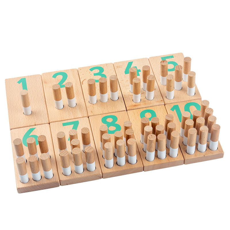 Number Boards Baby Counting Math Wood Teaching Toys Kids Learn Digital Toys Educational Wooden Toys for Children Gift