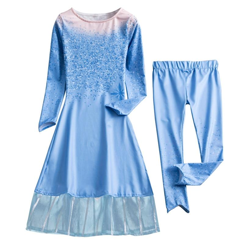 Hff28b06242b845258b395f766c3bcf256 2019 Elsa Dresses For Girls Princess Anna Elsa Costumes Party Cosplay Elza Vestidos Hair Accessory Set Children Girls Clothing