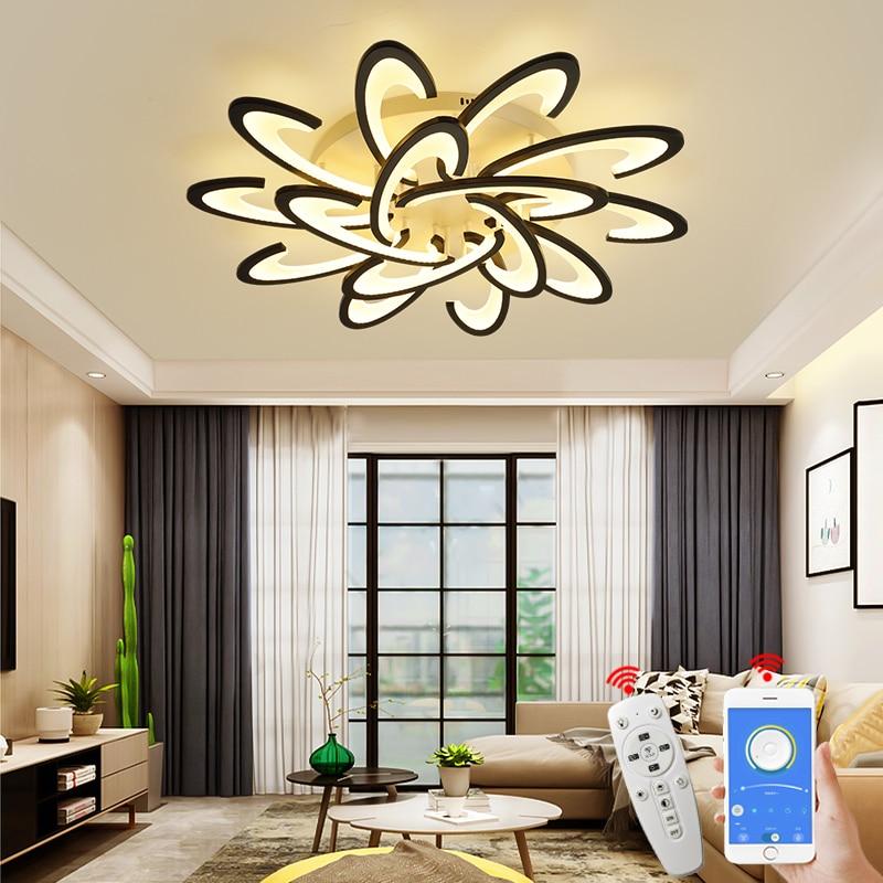 Современные светодиодные потолочные светильники NEO Gleam для гостиной, кабинета, спальни, лампа techo, белые/черные потолочные светильники