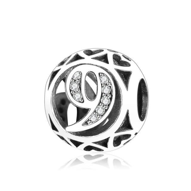 2019 Lente Clear Cz Nummer 0 Tot 9 Een Tot Negen Ronde Kralen Fit Originele Pandora Charms Armband 925 Sterling zilveren Sieraden Gift