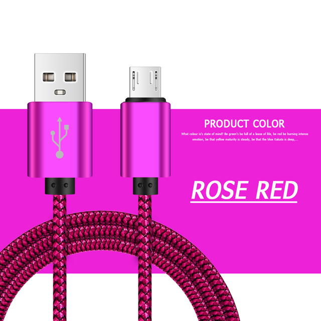 Color : Orange, Length : 2m GBHD USB Extension Cable Nylon Braided Micro USB Cable for Samsung HTC LG Huawei Xiaomi Android Phone Cable 1m//2m//3m Data Sync USB Charger Cable Cell Phone Cables