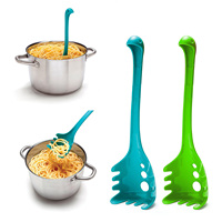 Kreative spaghetti löffel cartoon form löffel undichte löffel küche kochen Monster löffel nudeln pasta gabel Küche Werkzeuge-in Pasta-Löffel aus Heim und Garten bei