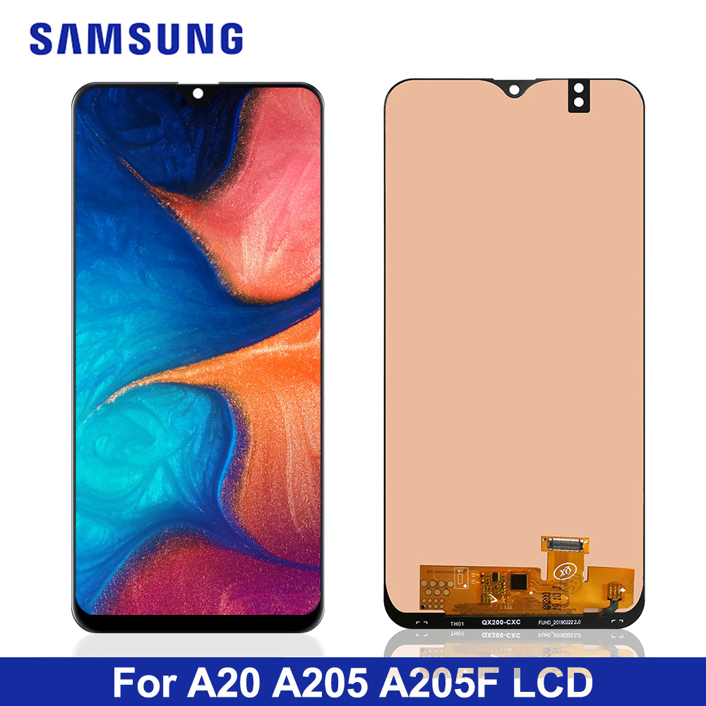 6.4'' LCD For Samsung A20 A205 SM-A205F A205FN Display lcd Screen A205GN A205S A205YN display lcd screen Digitizer Assembly title=
