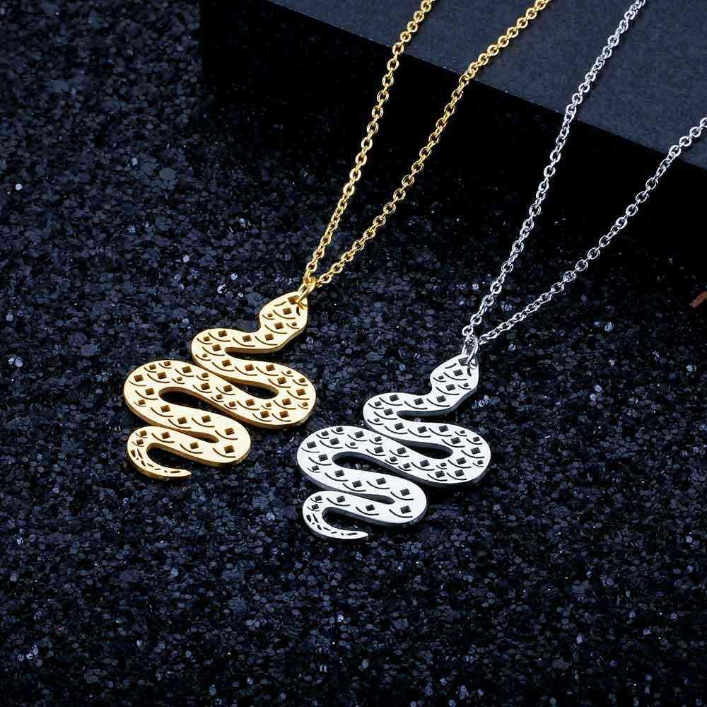100% prawdziwe ze stali nierdzewnej pusta duży wąż naszyjnik Trend biżuteria naszyjniki osobowość biżuteria niesamowity Design Super jakość