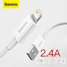Cavo USB Baseus per cavo iPhone 11 12 Pro Max Xs Xr X SE 8 7 6 Plus 6s cavo dati cavo caricabatterie rapido per iPad Air mini 4