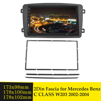 Double Din Car Fascia Stereo Radio Panel Plate Frame CD DVD Dashboard Panel Audio Bezel For Mercedes BENZ C CLASS W203 2002-2004 image