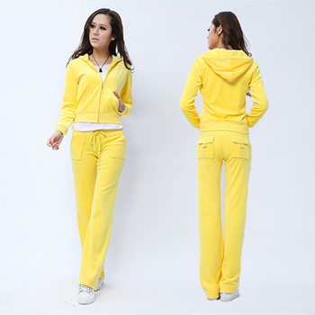 Spring/Fall 2021 Women's Brand Velvet Fabric Tracksuits Velour Suit Women Track Suit Hoodies And Pants fat sister sportswear 1