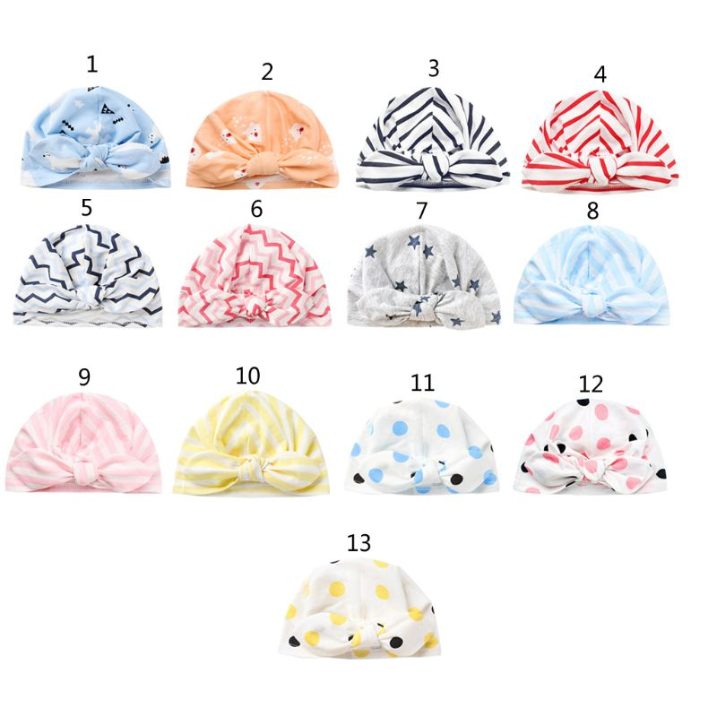 Cute Baby Hat Cotton Soft Turban Knot Girl Summer Hat Bohemian style Kids Newborn Hat for Baby Girls baby accessories