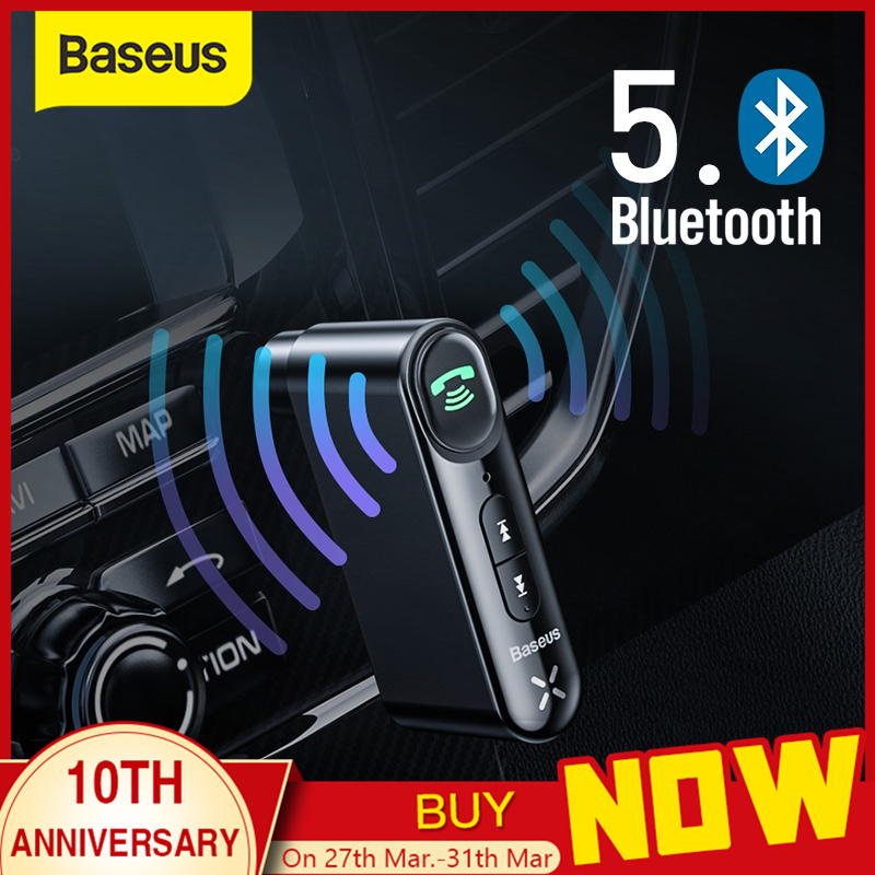 Baseus <font><b>Car</b></font> Aux <font><b>Bluetooth</b></font> <font><b>5.0</b></font> <font><b>Adapter</b></font> Wireless 3.5mm Audio Receiver for Auto <font><b>Bluetooth</b></font> Handsfree <font><b>Car</b></font> Kit Speaker Headphone image