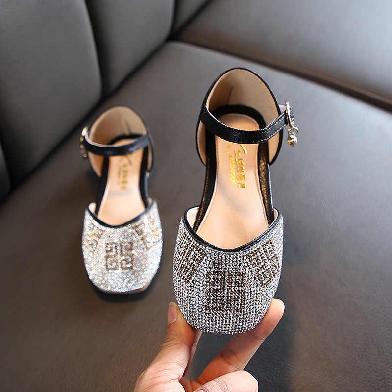 ULKNN Delle Ragazze Pattini Della Principessa 2020 Nuova Primavera Coreana di Modo di Paillettes Sandali Morbido Metà Inferiore Di Grandi Dimensioni Scarpe Scarpe Da Ballo
