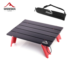 Folding-Table Widesea Tableware Barbecue Picnic Ultra-Light Outdoor Camping for Mini