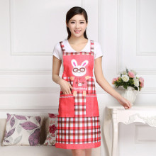 Cartoon Kitchen Korean Anti-fouling Coats Wear Bunny apron outside dresses and clothes