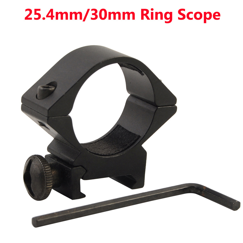 25.4mm/30mm Ring Scope Mount Flashlight Riflescope Mount Ring Picatinny Rail Adapter High/Low Profile Rifle Weaver Scope Hunting