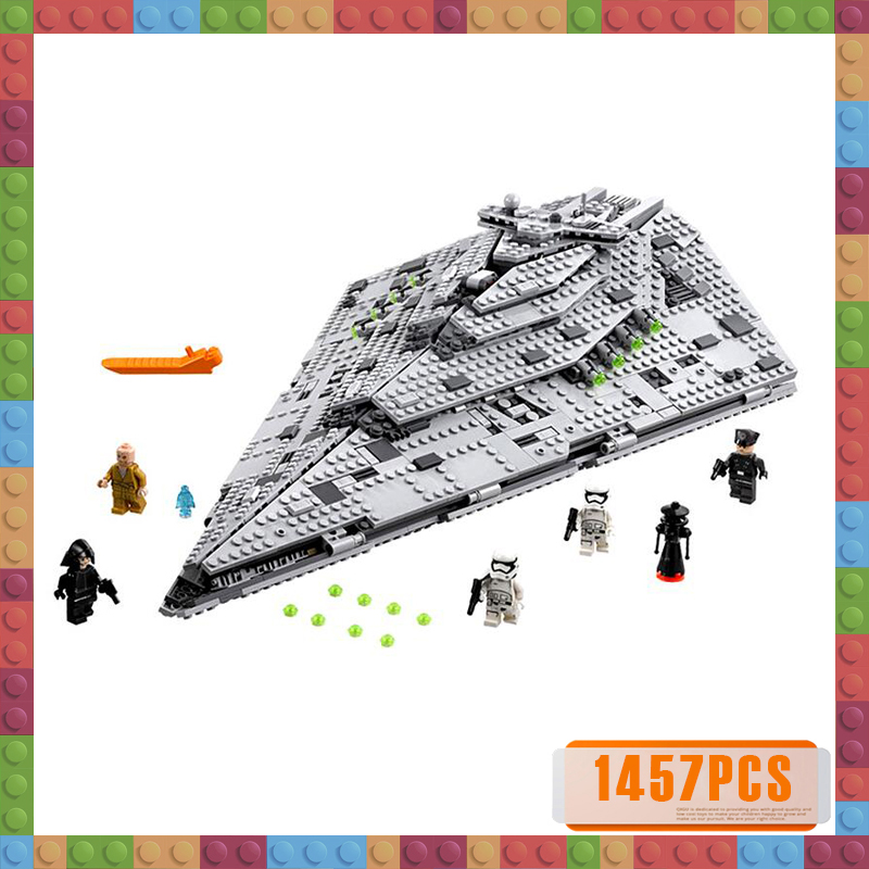 1457pcs 10901 First Order Star War Destroyer Costruzion Model Starwars Building Blocks Bricks Toys
