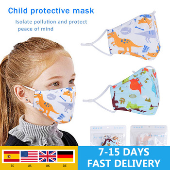 1/5pcs Non-woven Kids Mouth Mask Cartoon Animal Printing Breathable Warm  Mask Mouth Cover Outdoor Mask Filter For Kids