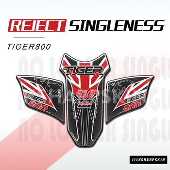 Almohadilla de tanque de combustible de Gel para motocicleta 3D Edge, adhesivos de hueso de pez, kit de carreras lateral de combustible protector para Triumph Tiger 800 2018