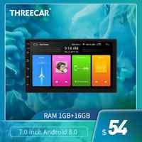 7 universal universal universal gps navegação bluetooth 2 din rádio do carro android 8.1 wifi áudio do carro estéreo fm tela dividida jogador do carro autoradio