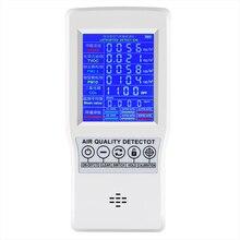 TVOC HCHO CO2 PM2.5 Intelligent Digital LCD Formaldehyde Detector Protable Home Air Quality Meter Carbon Dioxide Gas Analyzer