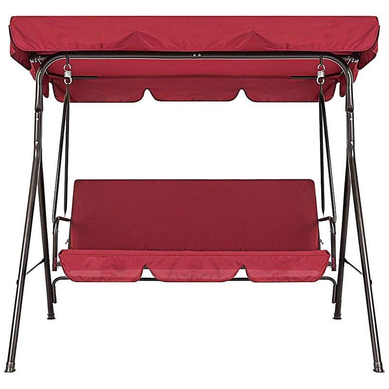 테라스 스윙 의자 2 개/대 세트/유니버설 가든 의자 방진 3 인승 야외 커버 (레드)