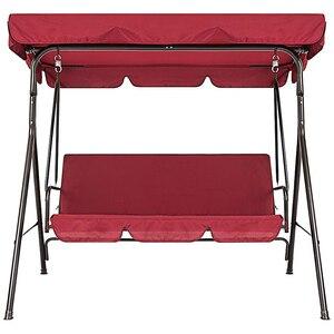 Терраса качели стул 2 шт./компл. Универсальный садовый стул пылезащитный 3-местный Открытый Чехол (красный)