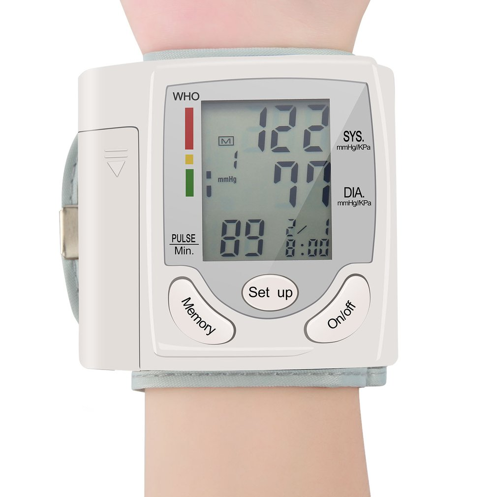Auto LCD Digital Upper Arm Meter Wrist BP Home Heart Beat Pulse Monitor With Cuff Health Care Instrument