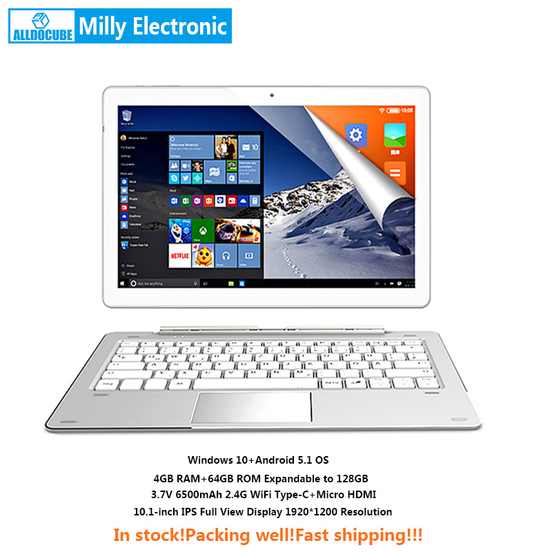 ALLDOCUBE IWork <font><b>10</b></font> Pro 2 Zoll 1 <font><b>Tablet</b></font> PC Intel Atom X5-Z8350 4GB Ram 64GB Rom 1920*1200 IPS <font><b>10</b></font>,1 Zoll Windows10 Android 5.1 image