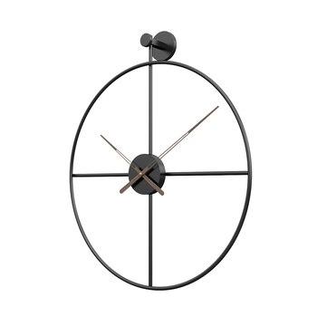 Reloj de Pared Grande 3d, decoración del hogar, Metal, Instagram, elegante, Pared...