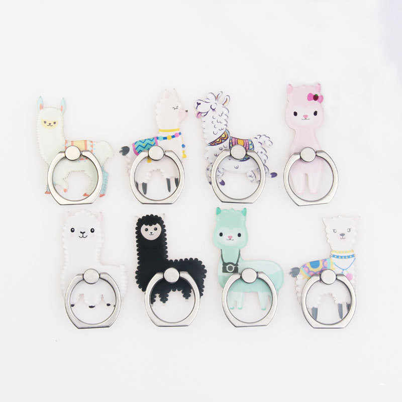UVR Universal Mobile Phone Magnetic Bracket Cute 3D Animal Alpaca Airbag Phone Expanding Stand Finger Holder Phone Holder Stand